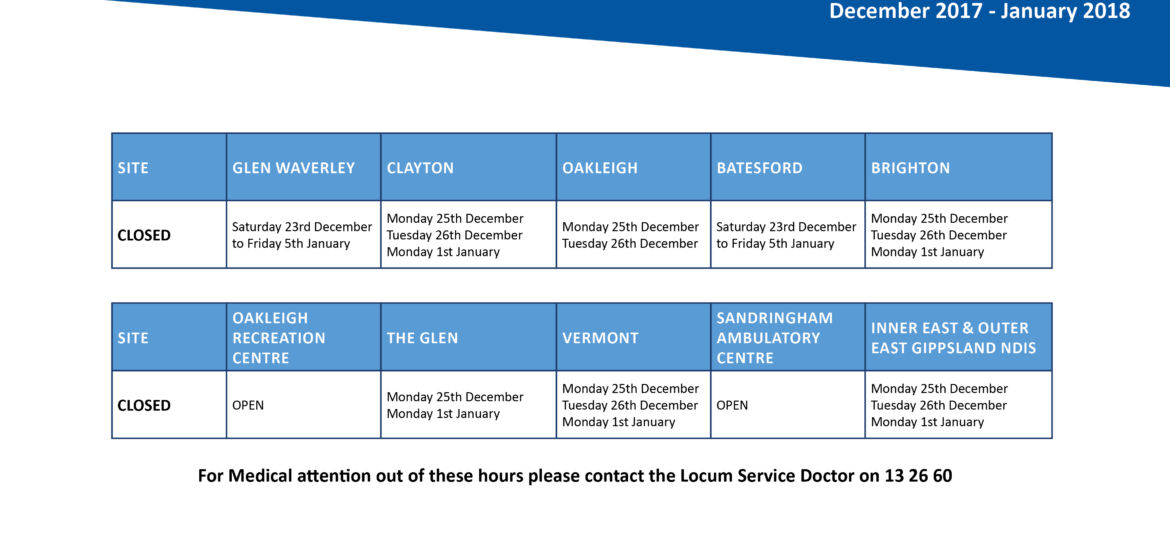 MAR.POS.2017.12.20 Opening hours over the festive season